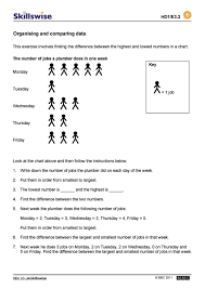mode median and range worksheets finding fractions of numbers