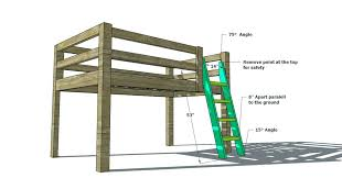 Bunk Bed Free Loft Bed Plan Bunk Plans Free Molarmindpower
