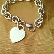 tiffany heart tag bracelet silver images Tiffany co jewelry authentic vintage tiffanys heart tag jpg