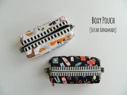 s o t a k handmade boxy pouch a free tutorial