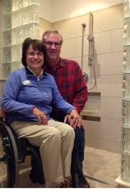Handicap Accessible Bathroom Designs by Wheelchair Accessible Shower U0026 Bathroom Shower Base And Entry