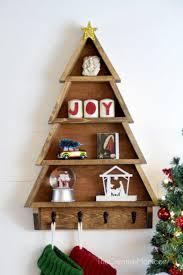 how to make christmas how to make a diy christmas tree shelf the creative