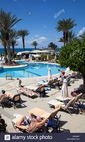 swimming pools at athena beach hotel resort in paphos cyprus