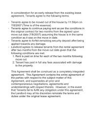 free lease break agreement rental formsimple landlord