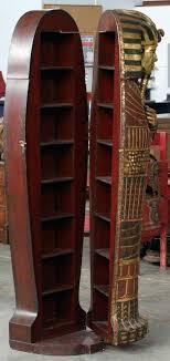 coffin bookshelf coffin bookcase for sale image 3 king tut coffin bookcase coffin