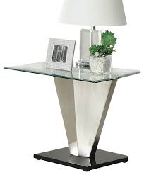 square glass end table chrome end tables iron wood popular inspirations 18 no29sudbury com