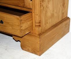 Wohnzimmertisch Fichte Massiv Highboard 2 Holztüren 2 Glastüren 1 4 Schubladen Fichte Massiv
