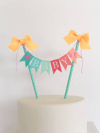 flamingo cake topper birthday cake bunting baby shower cake