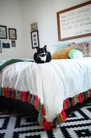 diy yarn tassel duvet blanket u2014 freckle u0026 fair recipes diy