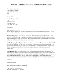 sample teaching cover letter 8 examples in word pdf
