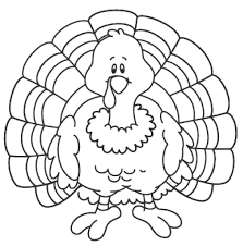 turkey dinner coloring pages thanksgiving printables simple