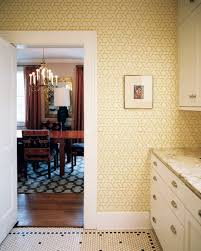 Kitchen Yellow Walls White Cabinets by Vintage Wall Treatment Photos 35 Of 47