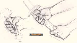 how to draw hand holding sword youtube