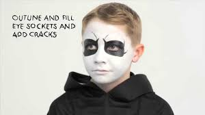 kids halloween makeup grim reaper halloween make up tutorial helloclean youtube
