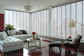 interior fabulous large window design with chic curtains combine