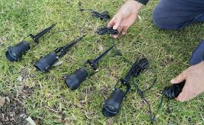 how to install garden lights how to install cable for garden lighting your local gardener