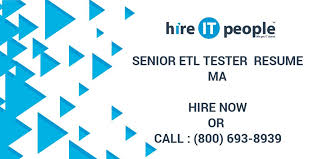 Etl Tester Resume Sample by Senior Etl Tester Resume Ma Hire It People We Get It Done
