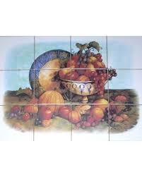Ceramic Tile Mural Backsplash by Spectacular Deal On Fruit Kiln Fired Ceramic Tile Mural Grapes
