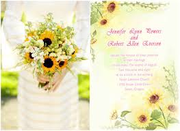 sunflower wedding programs rustic sunflower wedding ideas and wedding invitations