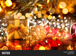 christmas gift box baubles image u0026 photo bigstock