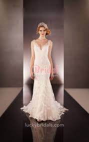 classic wedding dresses backless embroidered trumpet sleeveless lace classic wedding dress