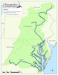 Chesapeake Bay Map John Smith Chesapeake Trail Chesapeake Conservancy