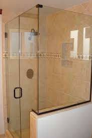 captivating uchannel shower next to glass enclosures with silver