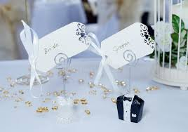 and groom cards and groom place cards stock image image of place closeup