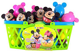 easter eggs filled with toys pack of 18 walt disney mickey minnie mouse candy
