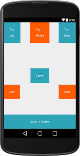 relative layout views position in android viral android