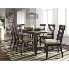 ashley furniture dresbar rectangular dining table set in grayish