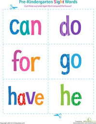 pre kindergarten sight words look to said preschool sight words