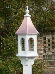 bright copper roof white vinyl birdfeeder bc 10