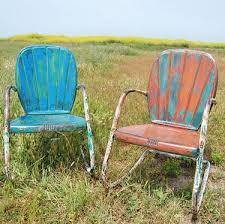 Old Metal Patio Furniture Best 25 Metal Lawn Chairs Ideas On Pinterest Vintage Metal