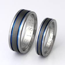 wedding band set matching titanium wedding band set stsa12 titanium rings studio