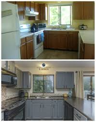 wood kitchen cabinets with grey walls kitchen update ideas painted cabinets from oak to gray