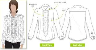 blouse sewing patterns sissy blouse style arc