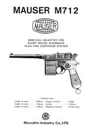 marushin mauser schnellfeuer m712 instruction manual japan