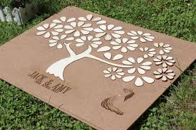 unique guest book express shipping 3d wedding guest book alternative tree wood