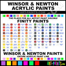 winsor and newton finity acrylic paint colors winsor and newton