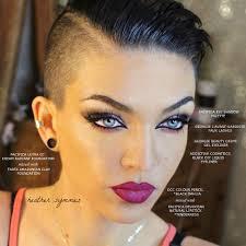 instagram pix of women shaved hair and waves comb over vegan makeup https instagram com heathersymmes