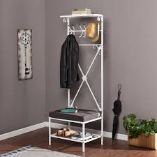 Entry Benches With Shoe Storage Furniture Classic Metal Entryway Bench With Coat Rack Buttom Shoe