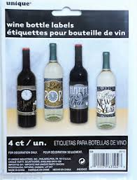 New Year S Eve Decoration Packs by Pack Of 4 New Year Wine Bottle Labels Party Table Decoration