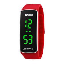 silicone bracelet watches images Kortusa led sport digital wrist watch 50m waterproof jpg