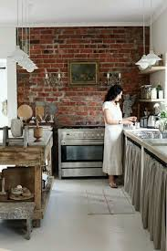 painted tile and brick store brick wall could be changed combo concrete kitchen pinewood