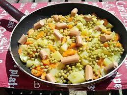 cuisiner des carottes la poele recette de poelée de pommes de terre au petit pois carottes