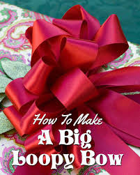 loopy bow how to tie a big bow running with