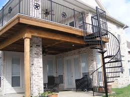 Drysnap Under Deck Rain Carrying System by This Home Used Ariddek Aluminum Decking For Their Two Story Deck