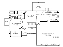 one story home plans with basement simple one story home plans
