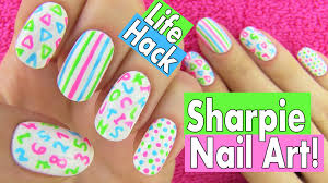 sharpie nails nail art life hacks 5 easy nail art designs for